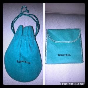 Set of two authentic Tiffany and Co pouches